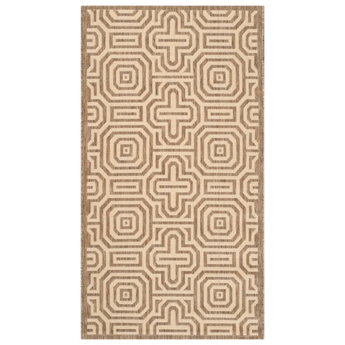 Courtyard Patio Rug - Brown / Natural - Safavieh® - image 1 of 1