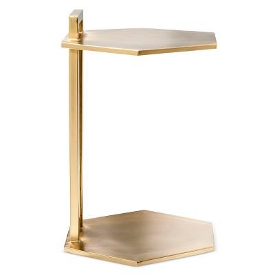 Superbe Brass Hexagon End Table   Nate Berkus™