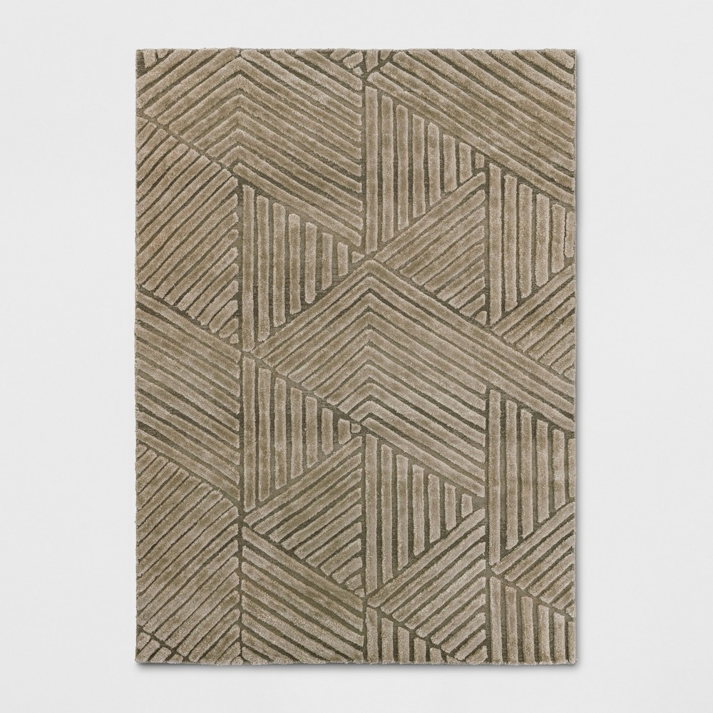 5'X7' Tufted Geometric Area Rug Taupe (Brown) - Project 62