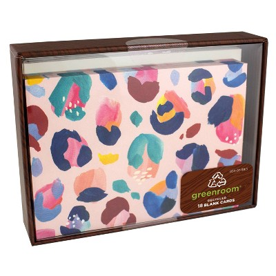 "5.5"" x 4.25"" 18ct Cards Cheetah Pink"