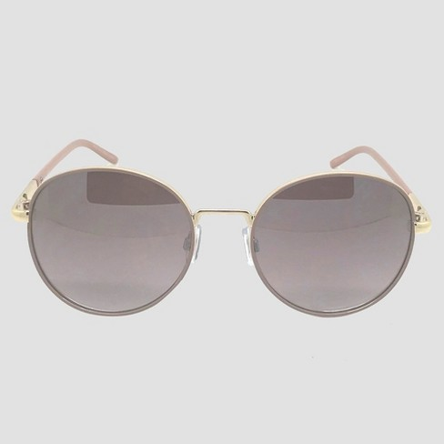 Women's Round Sunglasses - A New Day™ Soft Taupe - image 1 of 2