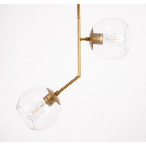 "Elegant Lighting LD8040D8 Ryland 2 Light 21"" Wide Multi Light Pendant with Clear Glass - image 1 of 3"