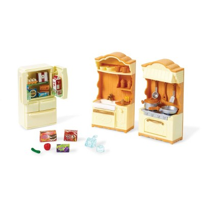Calico Critters Kitchen and Fridge Set