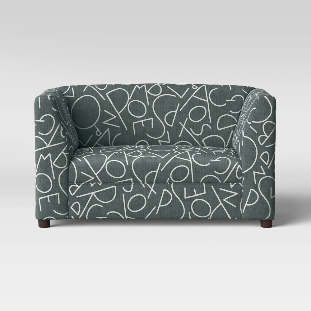 Image of ABCs Kids Upholstered Sofa Dark Gray - Pillowfort