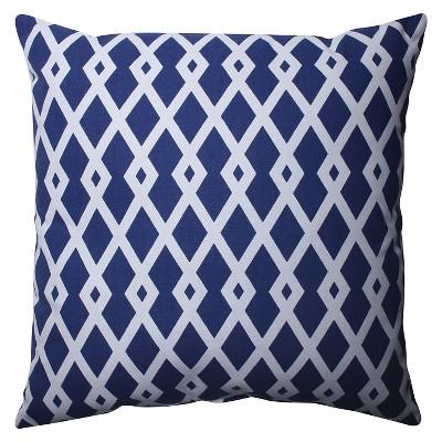 Pillow Perfect Graphic Ultramarine Throw Pillow - Blue (16.5 x16.5 )
