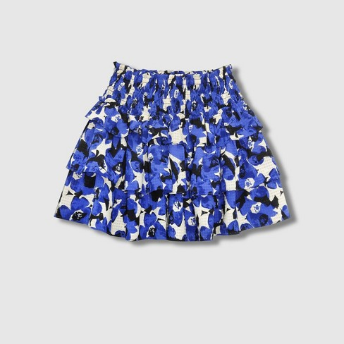 Women's Smocked Ruffle A-Line Mini Skirt - Who What Wear™ - image 1 of 2