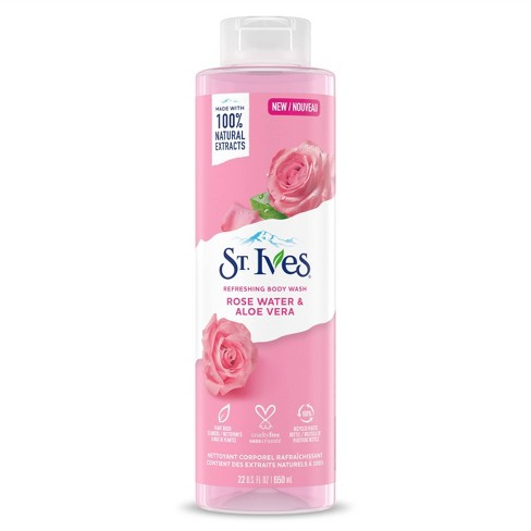 St. Ives Rose Water & Aloe Vera Plant-Based Natural Body Wash Soap - 22  fl oz - image 1 of 4