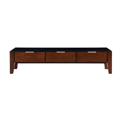 """Valmar Low Profile TV Stand for TVs up to 58"""" Black/Brown - Aiden Lane"""