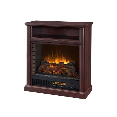 "32"" Parkdale Mobile Infrared Media Electric Fireplace Cherry Red - Pleasant Hearth"