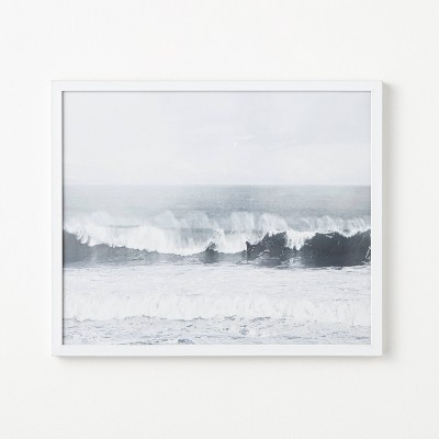 """20"""" x 24"""" Waves Rolling in Framed Under Glass - Threshold™ designed with Studio McGee"""