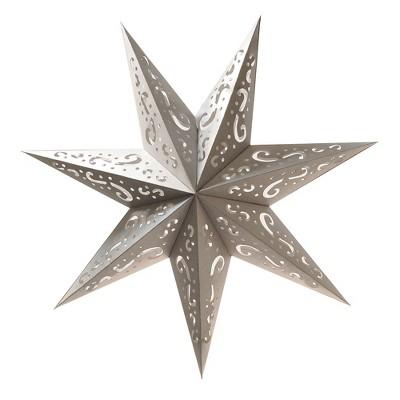 3ct Paper Lantern 7 Point Silver Star