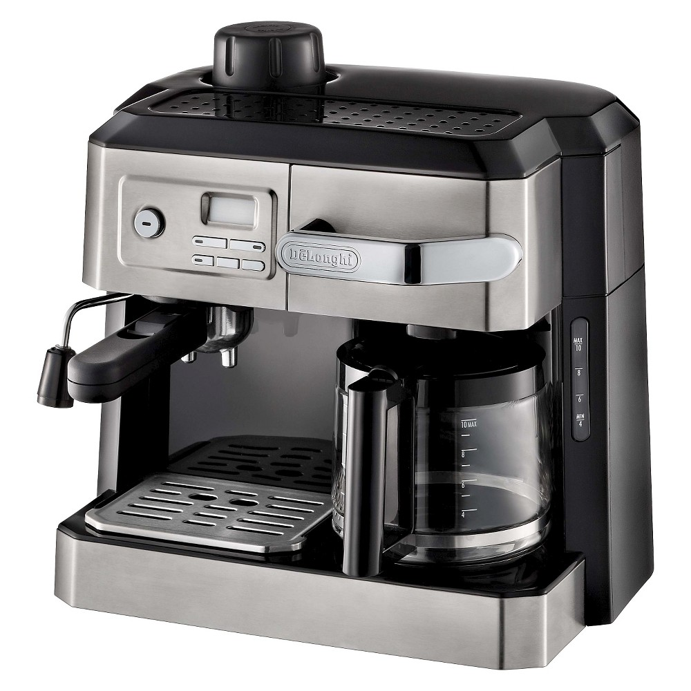 Delonghi Combination Drip Coffee, Espresso, Cappuccino and Latte Maker, Silver 49176036