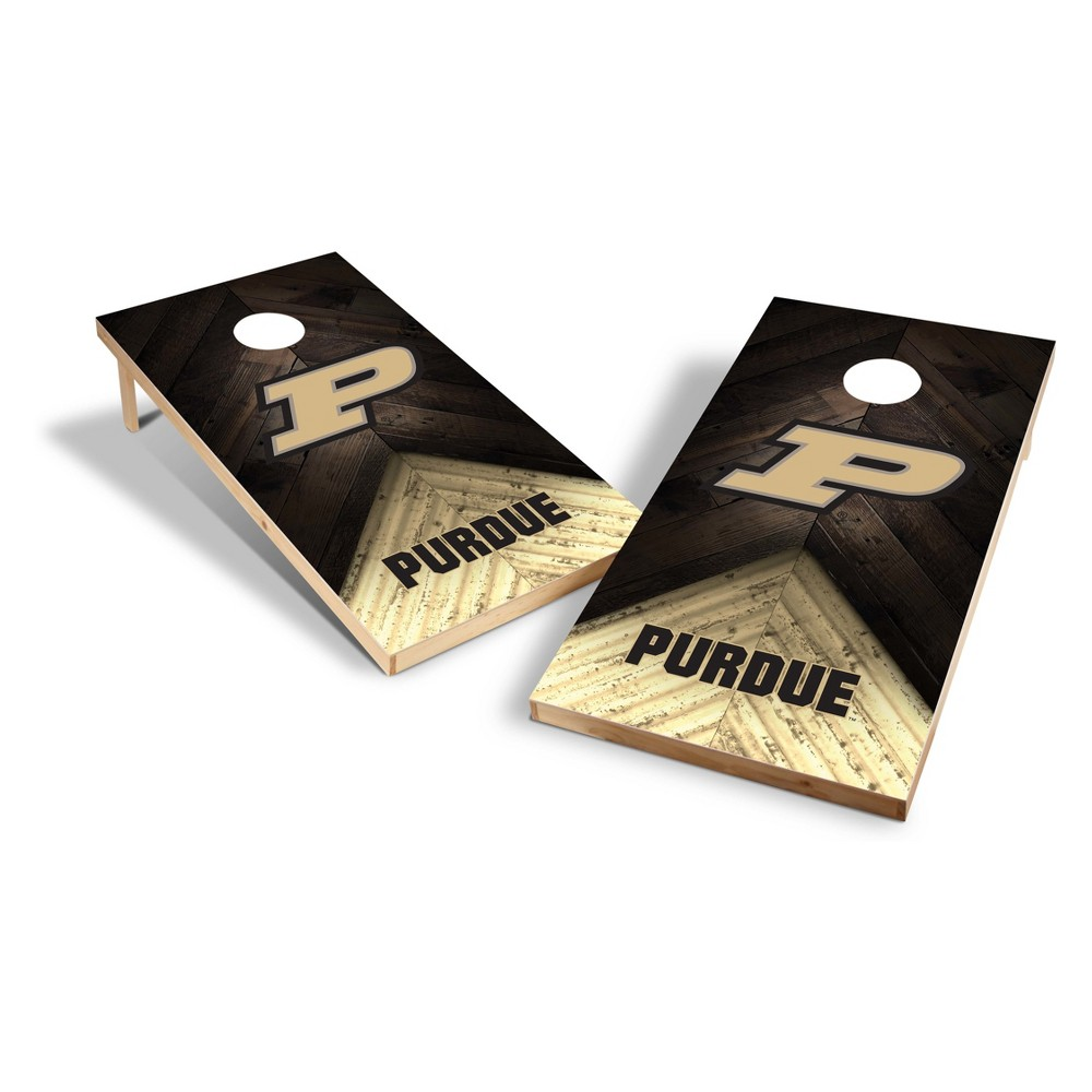 NCAA Purdue Boilermakers 2x4ft Tailgate Toss Cornhole Game