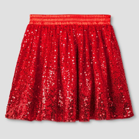 489b85abcb Girls' Tutu Skirt With Sequins - Cat & Jack™ Red XS : Target