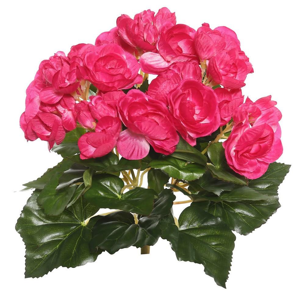Image of Artificial Begonia Bush (9.5) Hot Pink - Vickerman