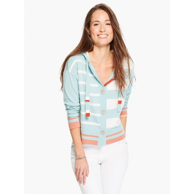 NIC+ZOE Women's Soft Stripe Hoodie Blue Multi