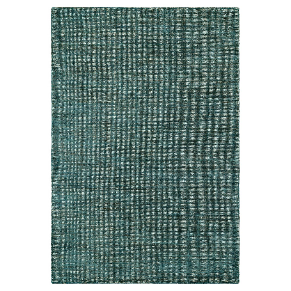 5'X7'6 Teal (Blue) Solid Loomed Area Rug - Addison Rugs