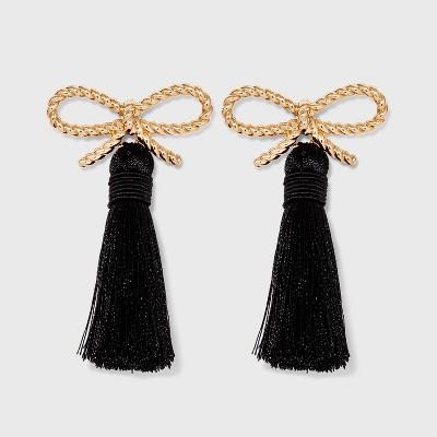 SUGARFIX by BaubleBar Braided Bow Tassel Earrings