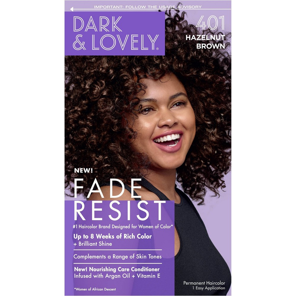 Image of Dark & Lovely Fade Resist Permanent Hair Color - 401 Hazelnut Brown