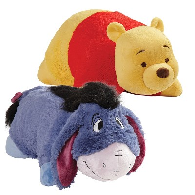 "16"" Disney Winnie the Pooh and Eeyore Plush Combo Yellow - Pillow Pets"