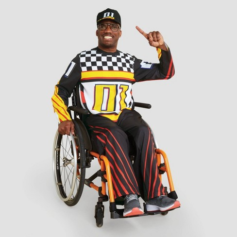 Adult Adaptive Race Car Halloween Costume Jumpsuit with Hat - Hyde & EEK! Boutique™ - image 1 of 4