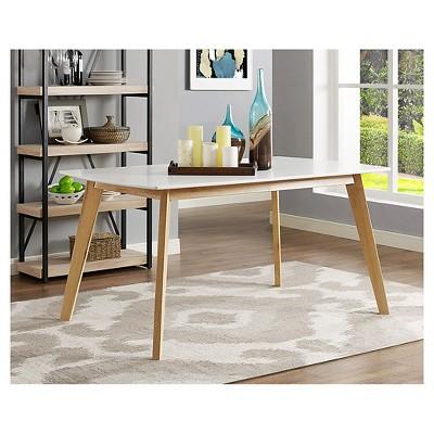 "60"" Retro Modern Wood Kitchen Dining Table - Saracina Home : Target"