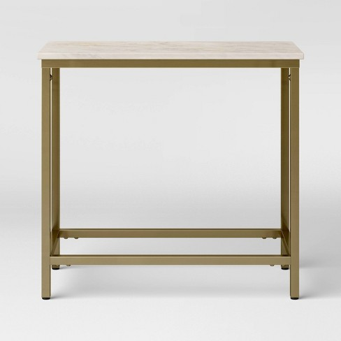Greenwich Narrow Long Marble End Table - Threshold™ - image 1 of 3
