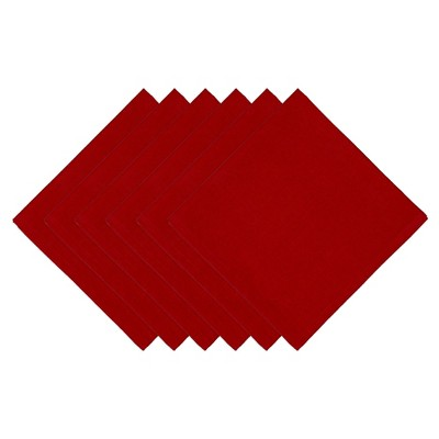 Red Napkin (Set Of 6)- Design Imports