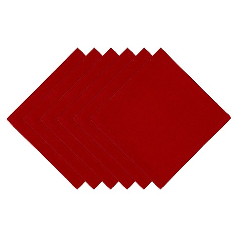 Red Napkin (Set Of 6) - Design Imports - image 1 of 1