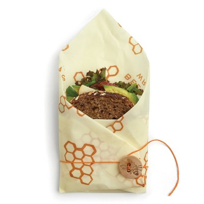 Bee's Wrap Sandwich Wrap Reusable Beeswax Food Wrap Sustainable Plastic Free Food Storage