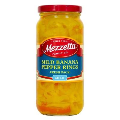 Mezzetta Mild Banana Pepper Rings - 16oz