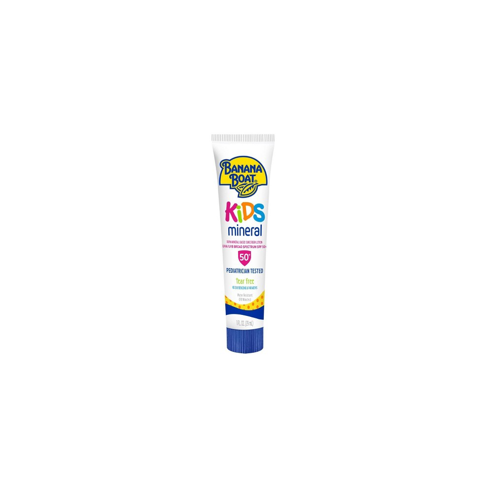 Image of Banana Boat Kids Mineral Sunscreen Lotion - SPF 50+ - 1oz