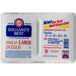 Eggland's Best Classic Large White Grade AA Eggs - 24ct
