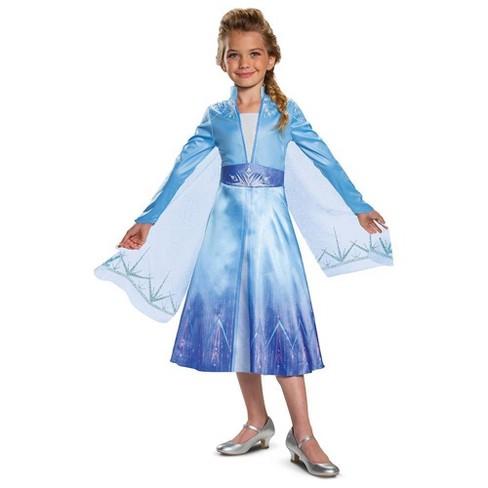 Girls' Disney Frozen Elsa Deluxe Halloween Costume - image 1 of 1