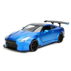 Jada Toys Fast & Furious 2009 Nissan GT-R (R35) Ben Sopra Die-Cast Vehicle 1:24 Scale Blue