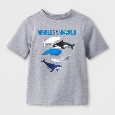 Baby Boys' Whales Rash Guard - Cat & Jack™ Gray 12M