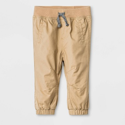 Baby Boys' Woven Pull-On Pants - Cat & Jack™ Brown Newborn