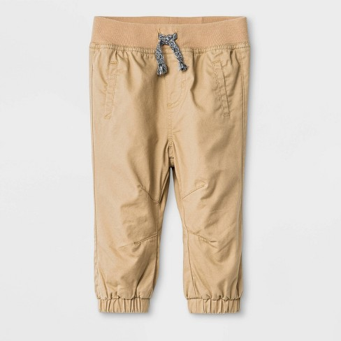 Baby Boys' Woven Pull-On Pants - Cat & Jack™ Brown - image 1 of 2