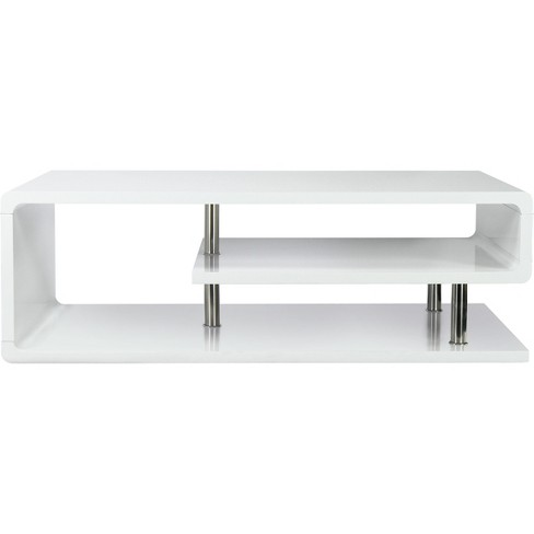 ioHomes Karissa Modern Glossy Coffee Table White - image 1 of 3