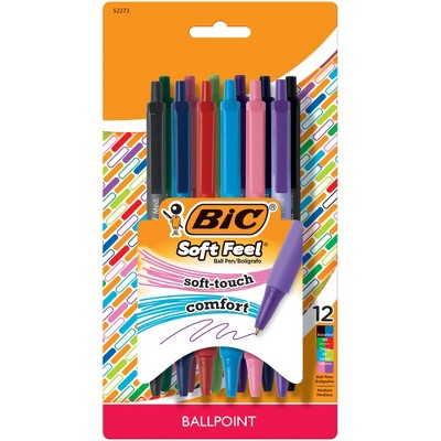 12ct Ballpoint Pens Soft Feel - BIC