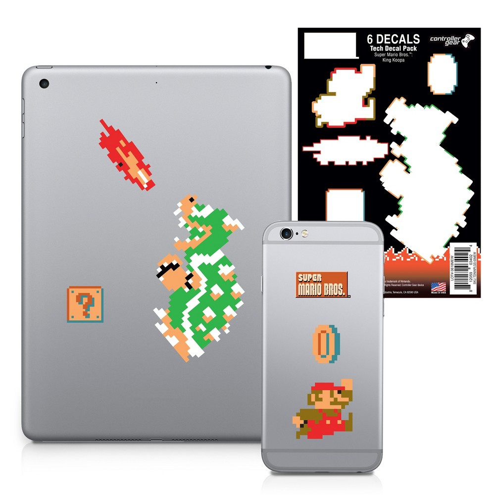 Nintendo Tech Decal Pack Super Mario Bros. - King Koopa, Multi-Colored