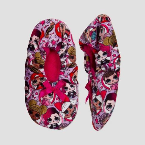 Girls' L.O.L. Surprise! Slipper Socks - Purple - image 1 of 2