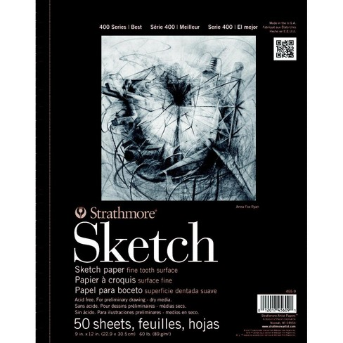 100-Sheet Spiral Jack Richeson 11-Inch-by-14-Inch Drawing Paper Pad
