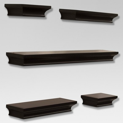 Traditional Shelf Set 5pc - Brown - Threshold™