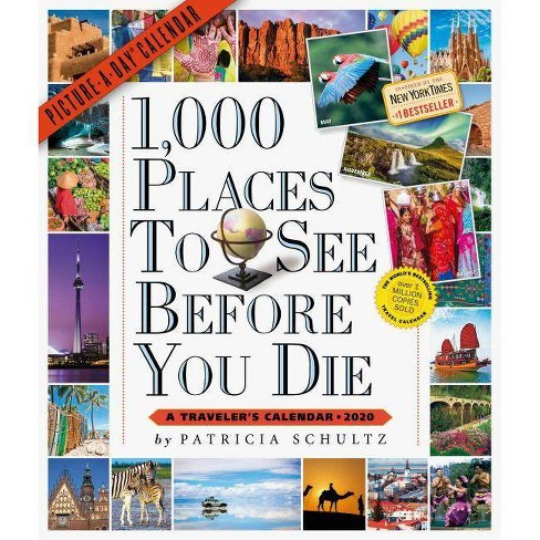1,000 Places to See Before You Die Picture-A-Day Wall Calendar 2020 - by  Patricia Schultz - image 1 of 1