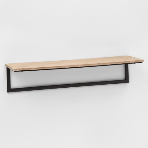 "23.7"" x 7"" Wood & Metal Wall Shelf - Project 62™ - image 1 of 2"