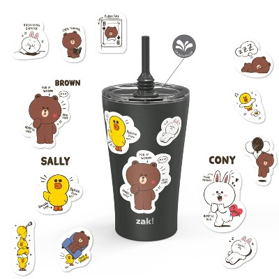 Line Friends 20oz Stainless Steel Alfalfa Tumbler with Stickers - Zak Designs