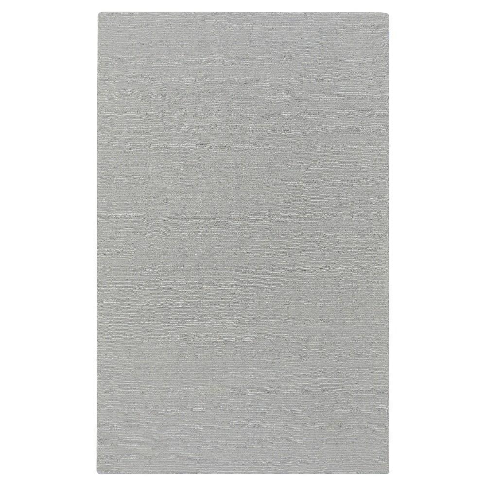 Gray Shadow Solid Loomed Area Rug - (7'6