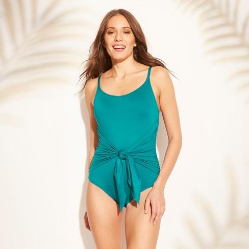 110a3362814 Women s Wrap One Piece Swimsuit - Kona Sol™   Target