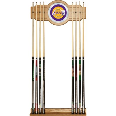 NBA Los Angeles Lakers Billiard Cue Rack with Mirror